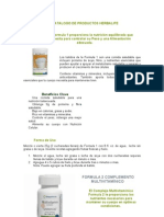 CATALOGO DE PRODUCTOS HERBALIFE