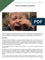 Berrinches y Crisis de Niños Con Autismo en Qué Se Diferencian