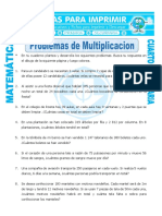FICHA DE PROBLEMAS DE MULTIPLICACIÓN