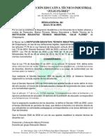 Resolucion No 001 Asignacion Academica Tecnico Industrial Julio FLorez - Chiquinquira-Final