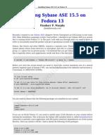 Installing Sybase ASE 15.5 on Fedora 13