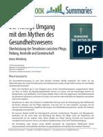 Der Richtige Umgang Mit Den Mythen Des Gesundheitswesens.