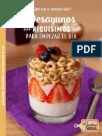 Recetario Desayunos CHEERIOS Avena y más Granos