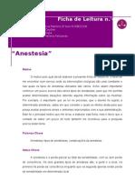 Ficha de leitura -anestesias