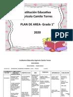 PLAN DE ÁREA GRADO 1 2020