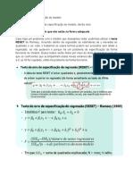 RESUMO - Problemas de especificação do modelo
