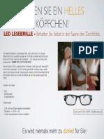 LED Lesebrille Anzeige