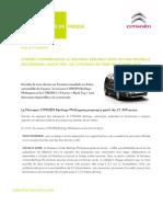 Citroën Berlingo 2015 - Communiqué de Presse