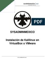 instalar kalilinux y Mr Robot en  VMWARE o VIRTUALBOX