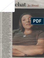 """Newsday """"Fast Chat"""" - Jo Frost"""