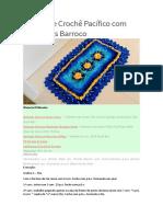 Tapete de Crochê Pacífico com Barbantes Barroco (1)