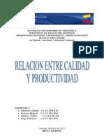 Relacion Entre La Calidad y La Productividad