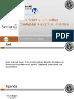 Erste Schritte, um selber ConfigMgr Reports zu erstellen