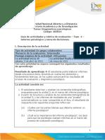 Guia de actividades y Rúbrica de evaluación - Fase 4 - Informe psicológico y toma de decisiones