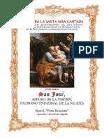 19 de Marzo.- San José, Esposo de la Virgen. Guía de los fieles para la santa misa cantada. Kyrial Fons Bonitatis. En Apéndice