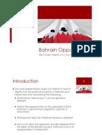 Bahrain Opposition Representation