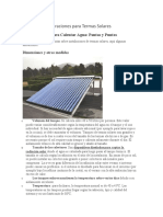 Consideraciones para Termas Solares