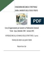 Dinamica Delle Strutture 1Di2- Cenni 48 Pag