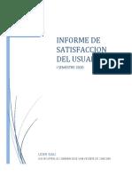 Informe Satisfaccion  I semestre 2020