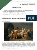 Sui fondamenti della logica formale (Prima parte)