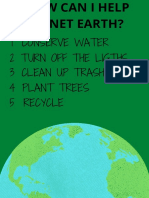 How Can i Help Planet Earth