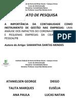TRABALHO DE GRUPO