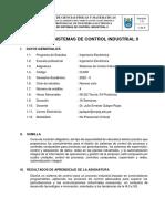 SILABO DE SISTEMAS DE CONTROL INDUSTRIAL II