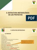 2.- ESTRUCTURAS DE LOS PROYECTO