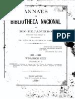Anais Da Biblioteca Nacional 1885