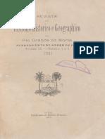 Revista Do Ihgrn - 1911-1912 Volume Ix - Nº 01 e 02