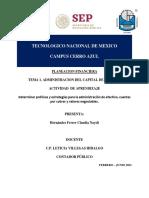 ACTIVIDAD 3. T1. PLANEACION FINANCIERA_CLAUDIA NAYELI HERNANDEZ FERRER