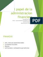 cap.1 El papel  de la administracion financiera
