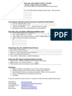 JCPS HEALTH AND SPORTS SAFETY COURSE Study Guide