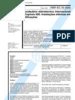 Abnt - Nbr 60050 - Vocabulario Eletrotecnico Internacional - Capitulo 826 Instalacoes Eletricas em Edificacoes
