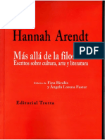 ARENDT, Hannah. Cultura y política