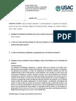 HOJA DE TRABAJO II HOMBRE CIENCIA Y FILOSOFIA- ESTUDIANTE