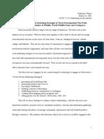 Internet Presence and Marketing Strategies of Three Environmental Non-Profit Organizations