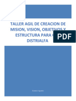 TALLER AGIL MISION VISION OBJETIVOS Y ESTRUCTURA