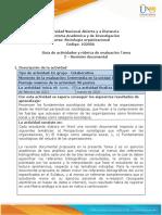 Guia de actividades y Rúbrica de evaluación - Unidad 1 - Tarea 2 - Revisión documental