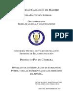 MODELO DE LOS RESULTADOS DE PARTIDOS DE FUTBOL