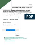 Convocatorias UNAM en línea 2021