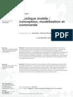 Robotique mobile-conception, modélisation et commande TI