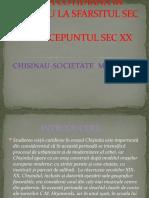 VIATA COTIDIANA IN CHISINAU LA SFARSITUL SEC