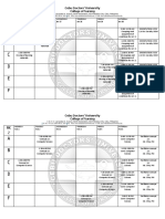NCM 110 Class Schedule