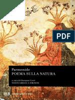Parmenide a Cura Di Giovanni Cerri Poema Sulla Natura