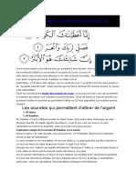 5 Sourates Coraniques Qui Pemettent D