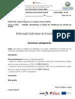 PowerPoint n.º 1- colocação e remoção de EPI´s durante o COVID 19