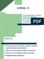 CURSUL 13 Contaminanti Mat de contact