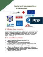 Les Organisations Et Les Associations Humanitaires