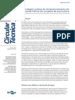 Abordagem prática do dimensionamento da demanda hídrica em projetos de piscicultura